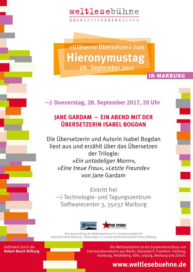 HIERONYMUSTAG 2017 IN MARBURG mit Isabel Bogdan