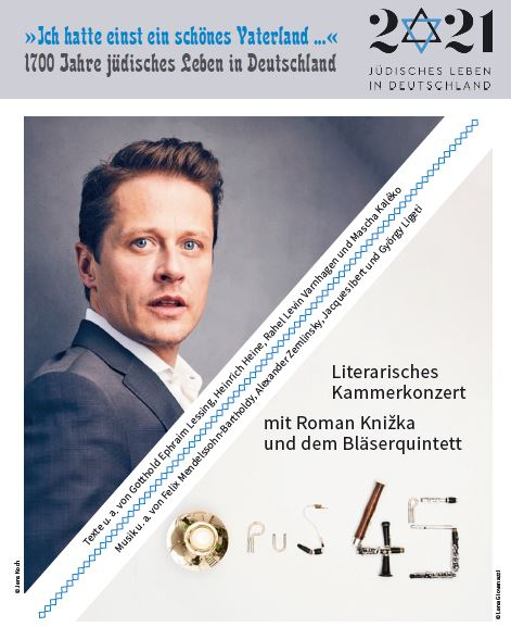 1700 Jahre jüdisches Leben in Deutschland – Literarisches Kammerkonzert mit Roman Knižka und dem Bläserquintett Opus 45